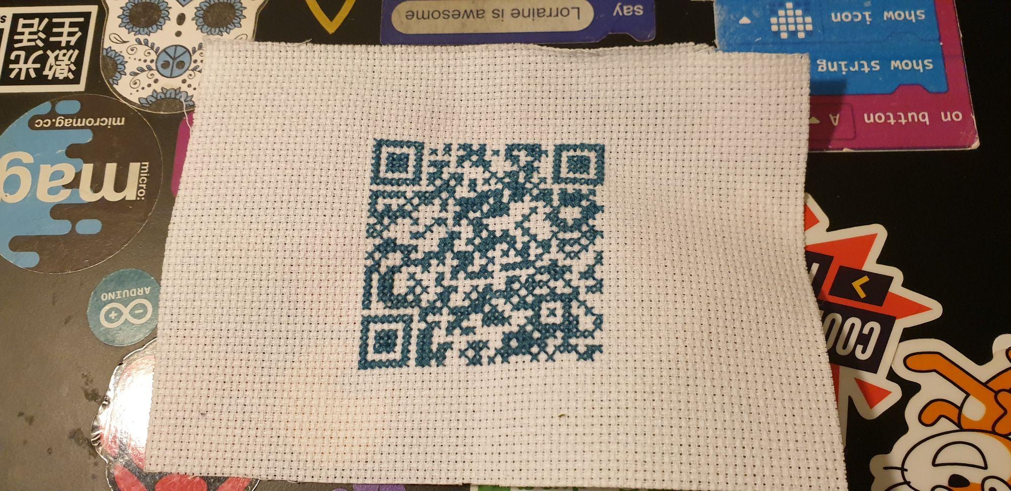 Stitch your own QR code